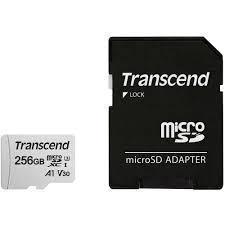 MEMORY MICRO SDXC 256GB W/ADAP/C10 TS256GUSD300S-A TRANSCEND