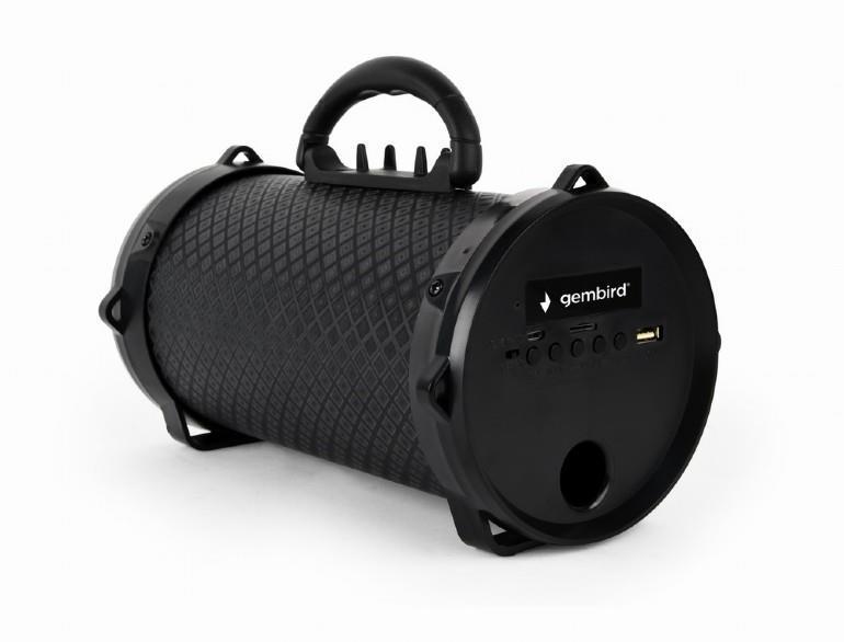 Portable Speaker GEMBIRD Boom Portable/Wireless 1xMicro-USB 1xMicroSD Card Slot Bluetooth Black SPK-BT-12