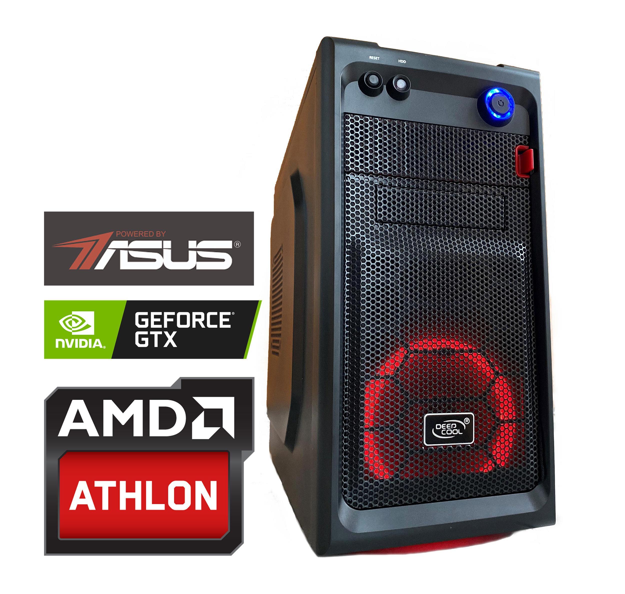 """Kompiuteris """"Žaidimams X4_1650"""" / AMD Athlon™ X4 870K 3.9~4.1GHz (keturiu branduolių procesorius ) / 8GB / 240GB SSD (Skaitymo greitis ~560 MB/s) / GeForce™ GTX 1650 4GB / USB 3.0 / """"Powered by ASUS"""" / 160209_C4_1650"""