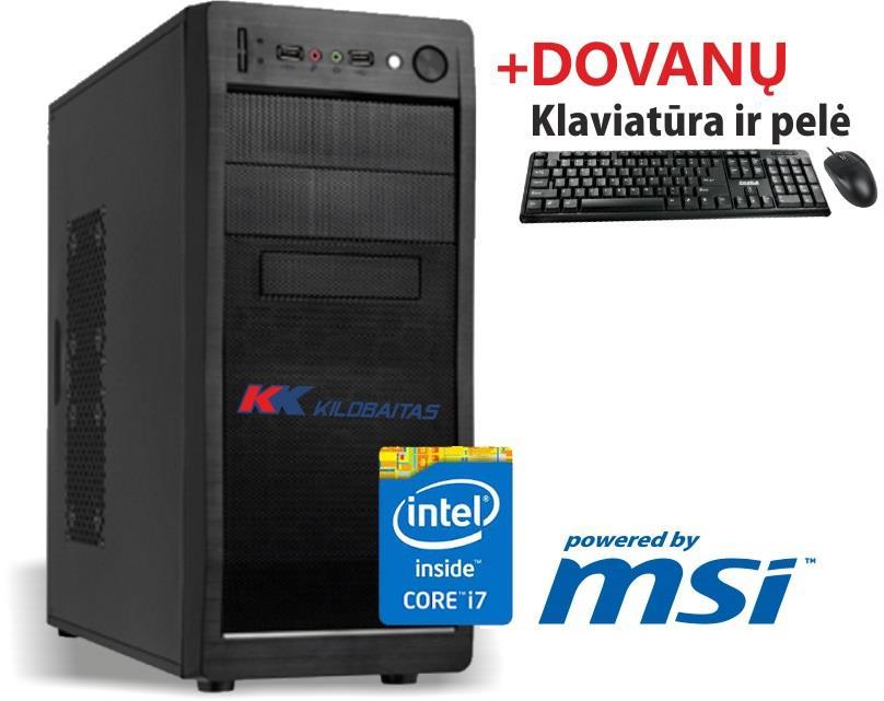 """Kompiuteris """"ATEITIES i7k Haswell"""" / Intel® Core™ i7-4790K 4.0~4.4Ghz / Intel® B85 lustas / 8GB DDR3 1600MHZ / 1000GB SATA3.0(6GB) 7200RPM / Intel® HD™ 4600 (Naujos kartos vaizdo procesorius) / USB3.0 / DVD+-RW / """"Powered by MSI"""" / 140222_F + KLAVIATŪRA IR PELĖ DOVANŲ !"""