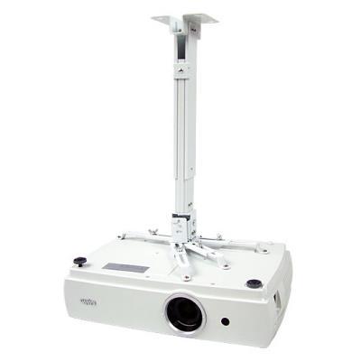 Avtek EasyMount steel ceiling till 10 kg, Distance 43-65 cm, Tilt +/-15°, side +/- 22.5°, col.:white