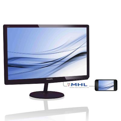 "W-LED 27"" 277E6EDAD/00 IPS 16:9 1920x1080 20M:1 (typ 1000:1) 300cd 178/178 5ms VGA/DVI-D/MHL-HDMI, SoftBlue, EPEAT-Silver, c:Black"