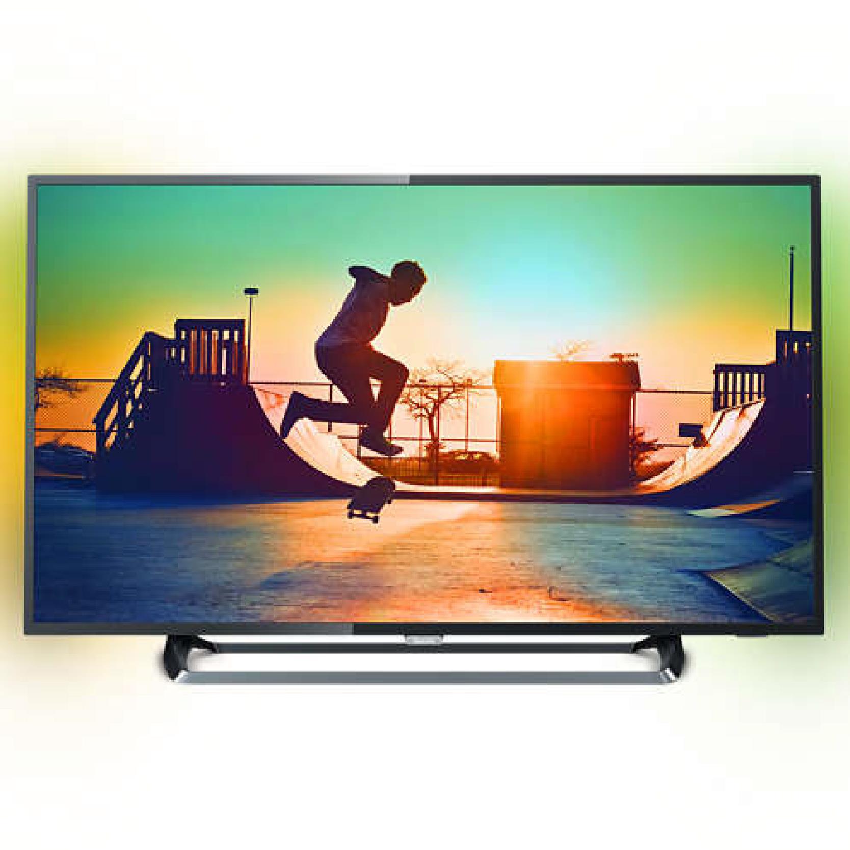 "Philips 6000 series 4K Ultra Slim Smart LED TV 43PUS6262 108 cm (43"") 4K Ultra HD Quad Core DVB T/C/T2/T2-HD/S/S2 Ambilight 2-sided Pixel Plus"