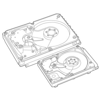 HP 8TB 6G SATA 7.2K rpm LFF (3.5-inch) SC 512e Helium 1yr Warranty Hard Drive