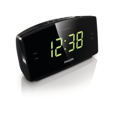 Philips Clock Radio AJ3400 Big display FM, Digital tuning Dual alarm Time & alarm backup.