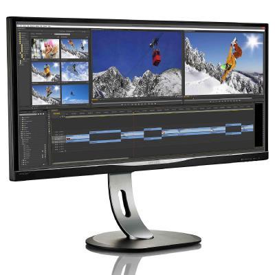 "LED IPS 34"" BDM3470UP uwQHD 3440x1440 40M:1 (typ 1000:1) 320cd 178/178 5ms VGA/DVI/HDMI/DP/4xUSB, SPK, Pivot, HAS, C:Black"
