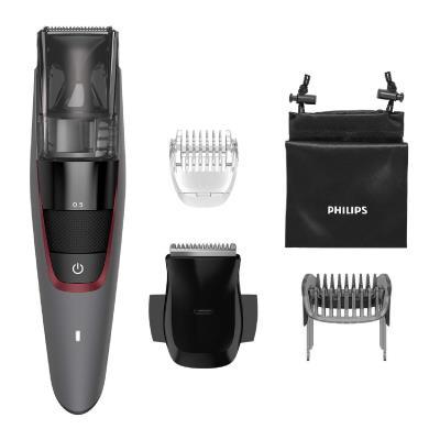 Philips Vacuum Beard Trimmer BT7510/15 0.5mm precision settings Self-sharpening metal blades
