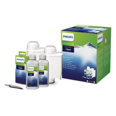 Philips Maintenance kit CA6706/10 Same as CA6706/00 Total protection kit 2x descaler & 2x water filter 6x Oil Remover & Grease
