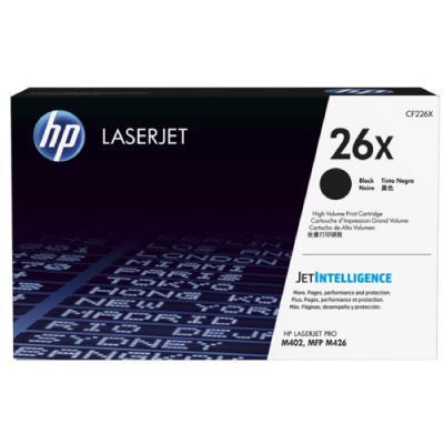 HP 26X High Yield Black Original LaserJet Toner Cartridge (9.000 pages)