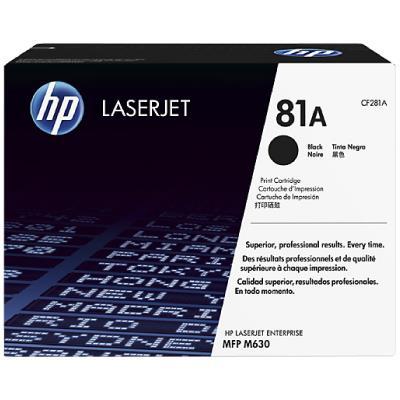 HP 81A Black Original LaserJet M604/M605/M606 Toner Cartridge (~10,500 pages)