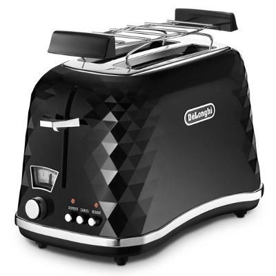 DELONGHI Brillante Toaster CTJ 2103.BK 900W, Crum tray, Defrost, Black