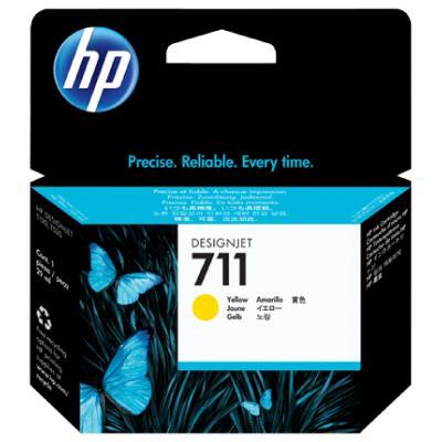 HP no.711 Yellow Ink Cartridge  29-ml 3-pack