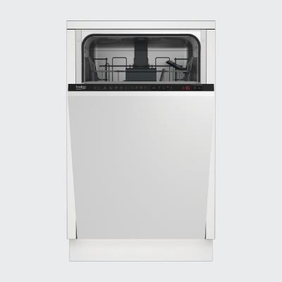 BEKO Built-In Dishwasher DIS26021, Energy class E (old A++), 45 cm, 6 programs, Inverter motor, Led Spot