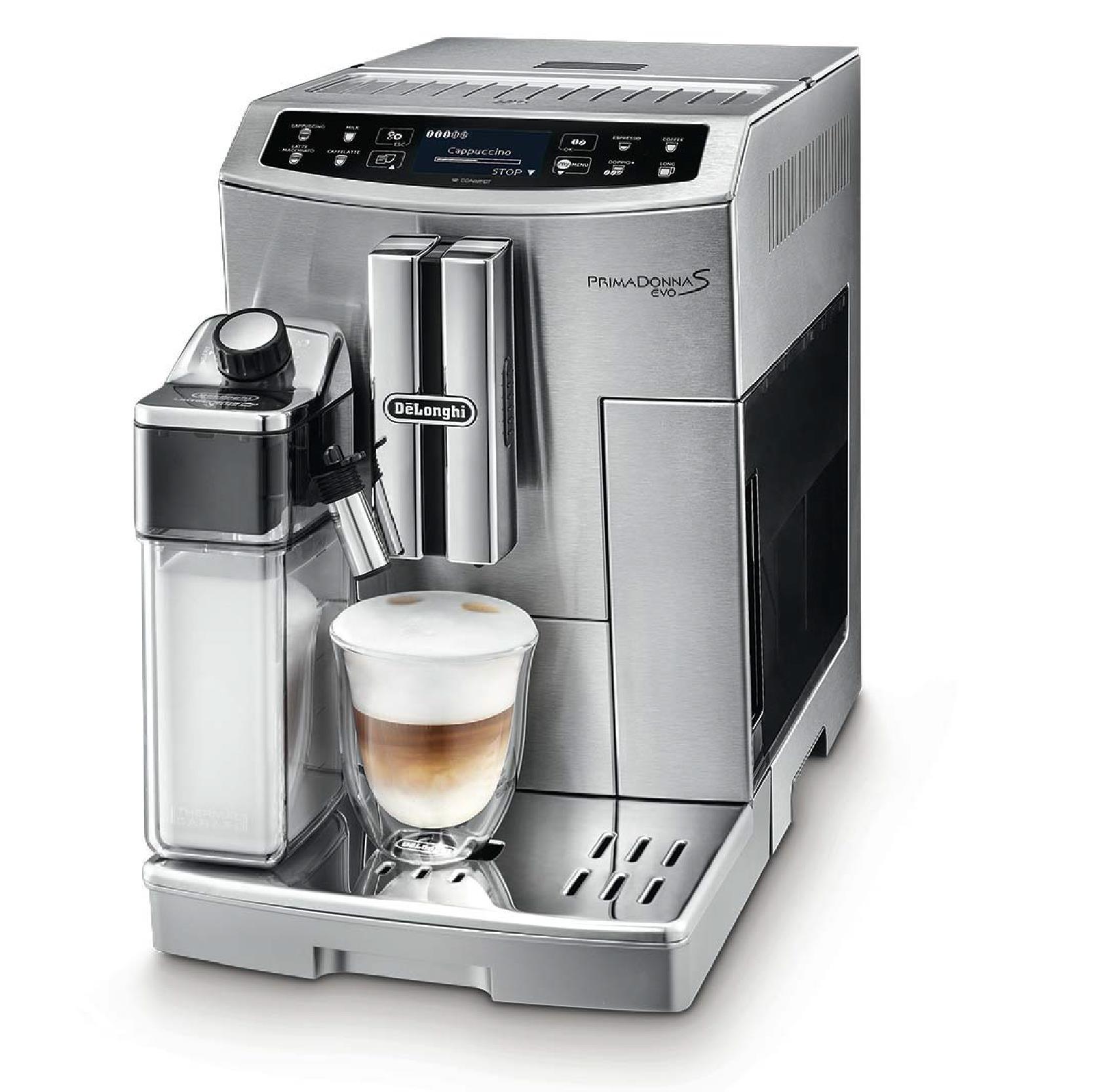 DELONGHI ECAM510.55.M Fully-automatic, 1450W, Inox/Black color