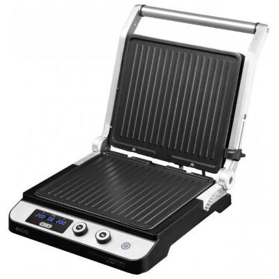 ECG Contact grill ECG KG 1000 GOURMET, 1650 - 2000W, 4 cooking positions, BBQ Booster, Inox color