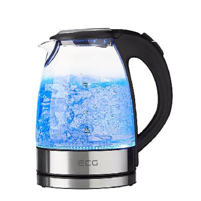 Glass kettle 1,7l; 2200 W; Removable and washable limescale filter