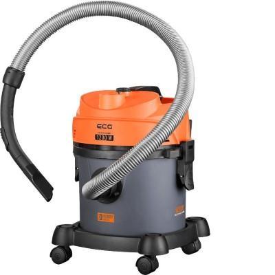 ECG Wet and dry vacuum cleaner ECG VM 2120 HOBBY, 1200W, 12 L capacity, Grey/Orange color