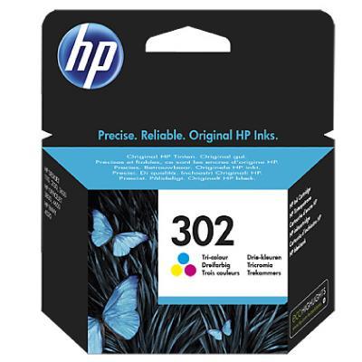 HP No. 302 Tri-color Original Ink Cartridge (165 pages)