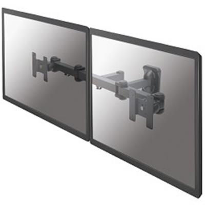 """NewStar Flatscreen Dual Wall Mount (3 pivots & tiltable) 2 x 10-27"""", col.:black"""