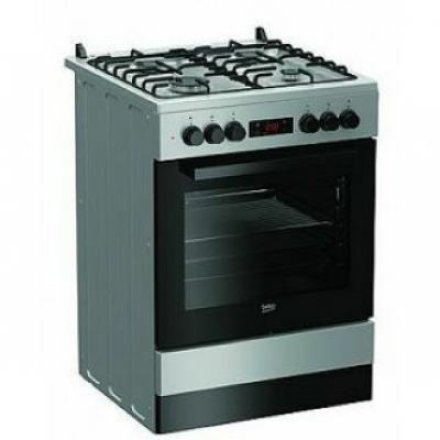 BEKO Cooker FSM62320DSS 60 cm, A, Gas/Electric, LED screen, Inox color/black glass