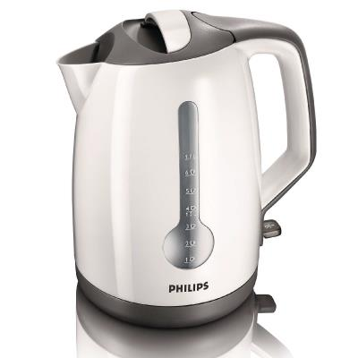 Philips Kettle HD4649/00 1.7 L 2400 W 1 cup indicator White grey Hinged lid