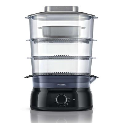 Philips Daily Collection Steamer HD9126/00 9 L, 900 W Manual timer Aroma Infuser, soup/rice bowl Plastic, Black