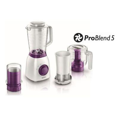 Philips Viva Collection Blender HR2166/00 600 W 2 L plastic jar with filter, mill and chopper ProBlend 5
