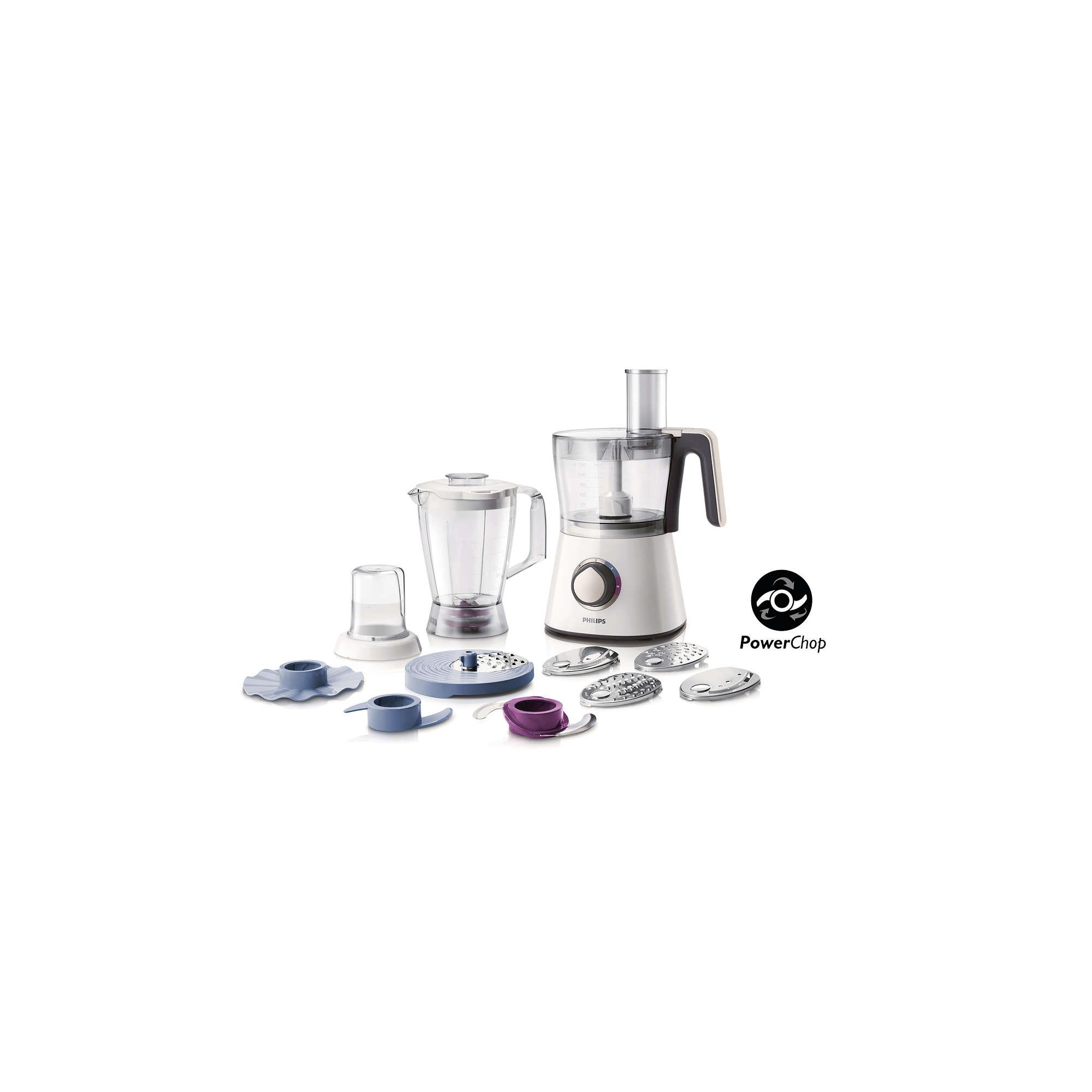 Philips Viva Collection Food processor HR7761/00 750 W Compact 3in1 setup 2.2 L bowl