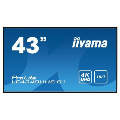 "iiyama LE4340UHS-B1 43"" LCD 3840x2160, 18/7, Android, Black"