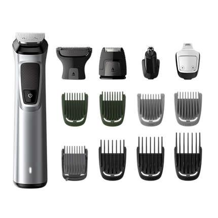 Philips Multigroom series 7000 14-in-1, Face, Hair and Body MG7720/15 14 tools DualCut technology Up to 120 min run time Showerproof