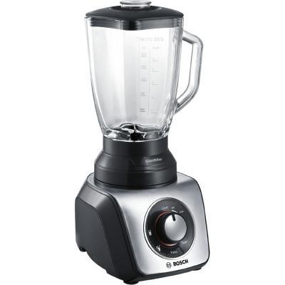 Bosch MMB65G0M Stirring machine 800W, stepless speed+pulse, 2 programs, 1.5l glass jug, black/metal, Super silent, Easy KlickKnife
