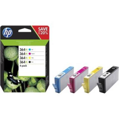 HP no.364 4-pack Black/Cyan/Magenta/Yellow Original Ink Cartridges