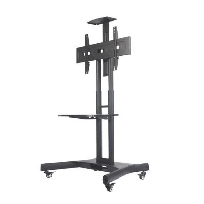 """Neomounts by Newstar Select NM-M1700BLACK Mobile floor stand for 32-75"""" screen, Max. weight: 50 kg, height adjustable - Black"""