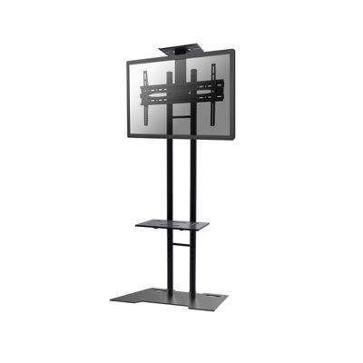 "NewStar Tiltable Mobile Flatscreen Floor Stand - (height: 155-170 cm) for flat screens 32-55"" col.:Black"
