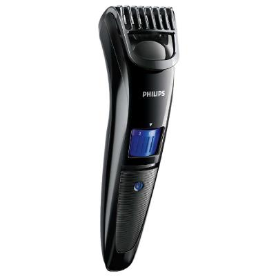 Philips Beardtrimmer series 3000 beard trimmer QT4000/15 1mm precision settings Stainless steel blades 10h charge/45mins cordless use