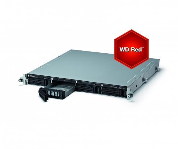 TeraStation 5400 Rack WD Red 12TB NAS & iSCSI 4x3TB 2xGigabit RAID 0/1/5/6/10